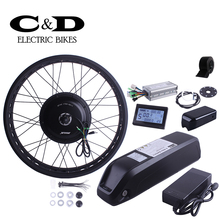 Fatbike Kit Electric Bike Conversion Kit 48V500W Motor MXUS Brand 48V8AH Big Kettle Bottle Lithium battery  Display Optional