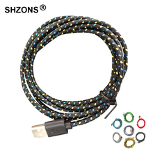 1m 3ft Universal Braided Wire Cable Nylon 8Pin USB Data Sync Charging Cable Cord for iPhone 5 5s 5c 6 6s Plus IOS 9.3.4 or Below