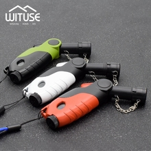 WITUSE Promotion! Windproof Butane Cigar Cigarette Jet Lighter Fun Shape Active Head No Gas Refillable Lighter(China)