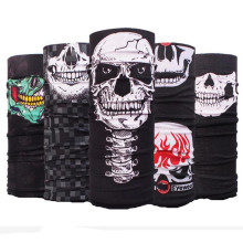 2017 Skull Flame Bandana Headband Sport Bicycle Bike Multi Functional Seamless Tubular Magic Bandanas Tube Ring Scarf