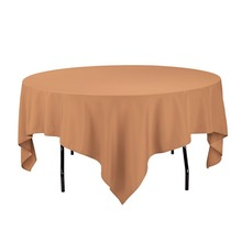 Fedex IE 85 inch Square Polyester Tablecloth Copper for Wedding Event Ceremony Banquet Party, 20/Pack(China)