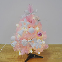 60cm 90cm pink desktop Christmas tree New Year gifts Christmas family hotel office decorations(China)