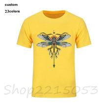 Men Dragonfly t shirt 2018 fashion t-shirt oodjis stranger things pokemon dragon ball marvels rick morty fitness kpop tshirt
