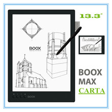 "ONYX BOOX MAX carta 13.3"" Flexible Screen 2200*1650 ebook 1G/16GB  Android e-Book  4100mA Bluetooth WiFi + cover free shipping"