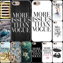 Brand New More Issues than Vogue Poster Hard White Cover Case for iPhone 7 7 Plus 6 6S Plus 5 5S SE 4 4S