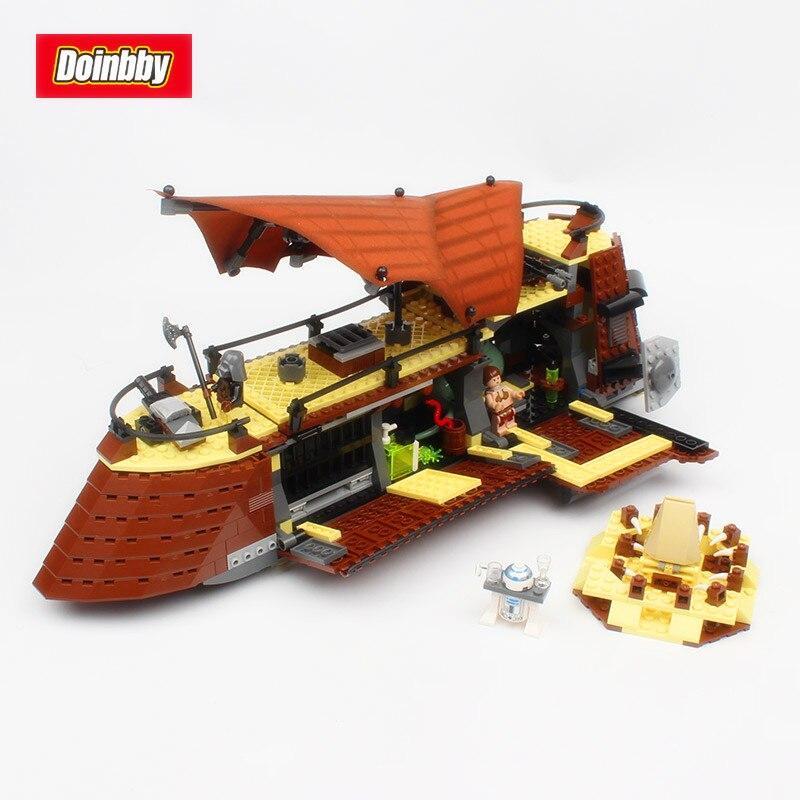 Lepin 05090 Space War 821Pcs Genuine Movie The Jabba`s Sail Barge Sailing Ship Set Building Blocks Bricks Toys Kids Gift 6210<br>