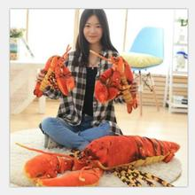 Simulation Red Lobster stuffed animals 45CM Creative Plush Toy Pillow Home Decor toys for children Plush lobster 1pc
