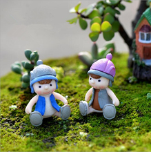 Free shipping/Resin Baby doll micro landscape decoration/resin Furniture furnishing articles DIY doll house mix 4PCS/lot