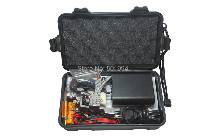 Tattoo Kit Professional with Best Quality Permanent Makeup Machine For Tattoo Equipment Cheap Black Tattoo Machines Kit Piercing<br>