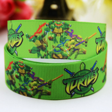 7/8'' (22mm) Teenage Mutant Ninja Turtles Cartoon Character printed Grosgrain Ribbon party decoration OEM 10 Yards X-00824(China)