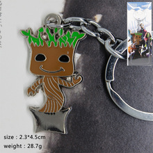 2017 Movie Groot Guardians Of The Galaxy Vol 2 Key Ring Chain Bag Backpack Necklace Action & Toy Figures Childhood Edition