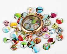 20PCS/lot 10MM Mixed Designs Family Tree Of Life Resin Floating Locket Charms For Magnetic Memory Locket