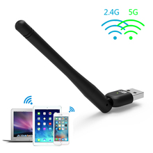 Wavlink  Dual Band Wireless AC600 USB Adapter Max Speed to 600Mbps WIFI Dongle 5dBi Antennas Ethernet Network LAN Card- Black