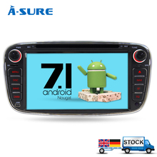 "A-Sure 7"" QuadCore Android 7.1 Car Audio gps FOR FORD FOCUS C-MAX S-MAX Mondeo Kuga Galaxy Car DVD Player multimedia stereo DAB+(Hong Kong)"