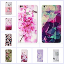 Soft TPU Case for Xiaomi Mi MAX Silicone Cover For Xiaomi Max Luxury Flower Print Phone Case Shell For Xiomi Mi Max MiMax 6.44""