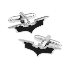 Fashion men's jewelry Boy Mens wedding shirts cufflinks in Black tone Batman for party cuff links high quality Design(China)