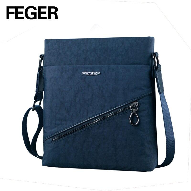 FEGER New Design Light Weight Mens Nylon Messenger Bag Soft Material Crossbody Shoulder Bag<br><br>Aliexpress