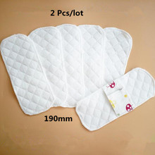 2 unids/lote paño Menstrual reutilizable fino toallas sanitarias suaves servilletas lavables impermeables Panty Liners mujeres 19 cm 2018 nuevo(China)