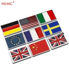 Car with the British France Germany Italy China Flag Car Logo Metal Body Stickers for ISUZU Land Rover MINI Cooper Nissan Dodge(China)
