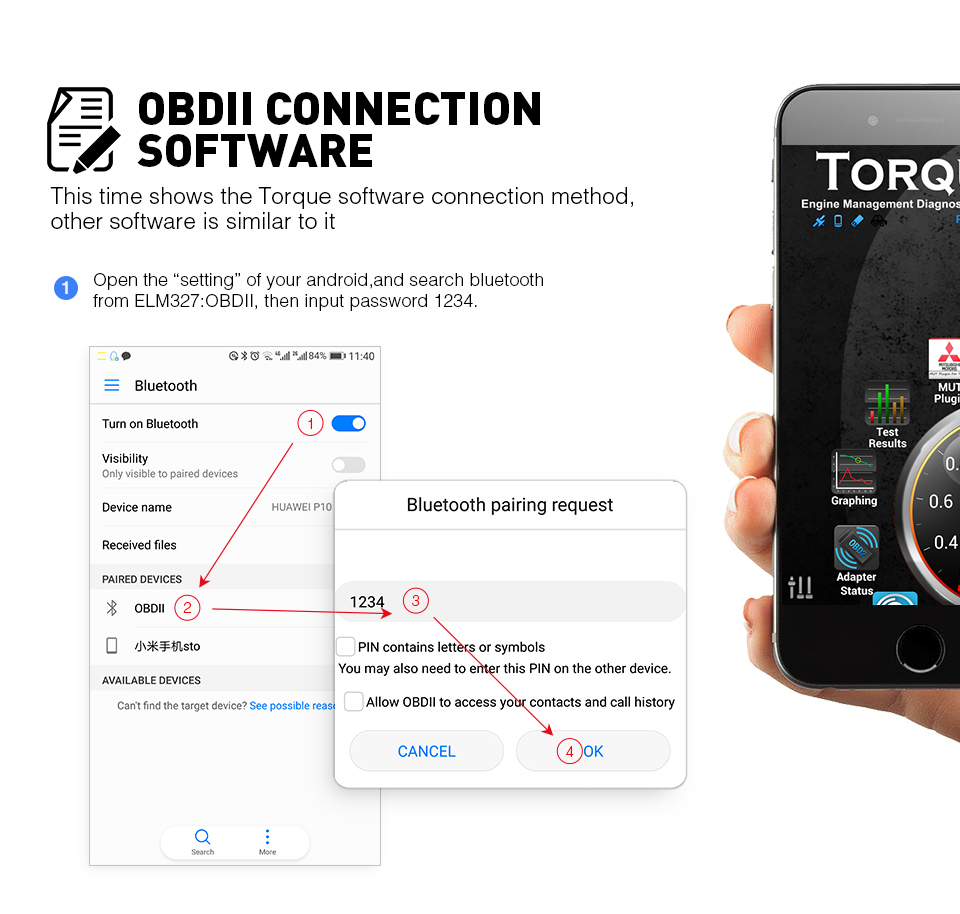 OBD app connect