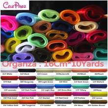 16cm x 10Yards Crystal Organza Sash Roll For Wedding Party Decaration (30 Colors For Selection)