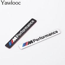 I M Performance Motorsport Metal Logo Car Sticker Aluminum Emblem Grill Badge for BMW E34 E36 E39 E53 E60 E90 F10 F30 M3 M5 M6(China)