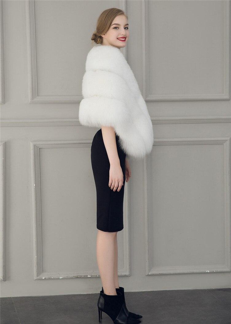 2018 Hcyo Korean version of the imitation of rabbit fur shawl imitation water mane fur grass cloak vest women's coat (8)