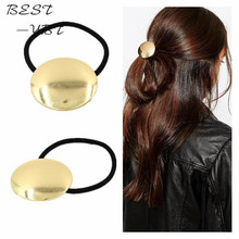 Fashion Women Jewelry Gold Fascinator Sheetmetal Hair Accessories Silicone Rubber Bands for Hair(China)