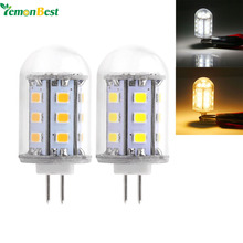 LemonBest 3W G4 LED Bulb Lamp Mini Light SMD2835 12V 24-LED Light non dimmable with plastic cover