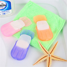 20Pcs/Box New Sheets Travel Portable Health Care Whitening & Exfoliating Clean Wash Hand Soap Paper Leaves with Mini Case