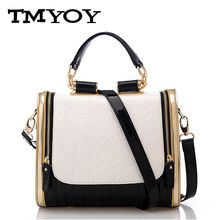 TMYOY 2017 New Quality America style women leather bags high quality pu  women shoulder bags flower print messenger bag JK050