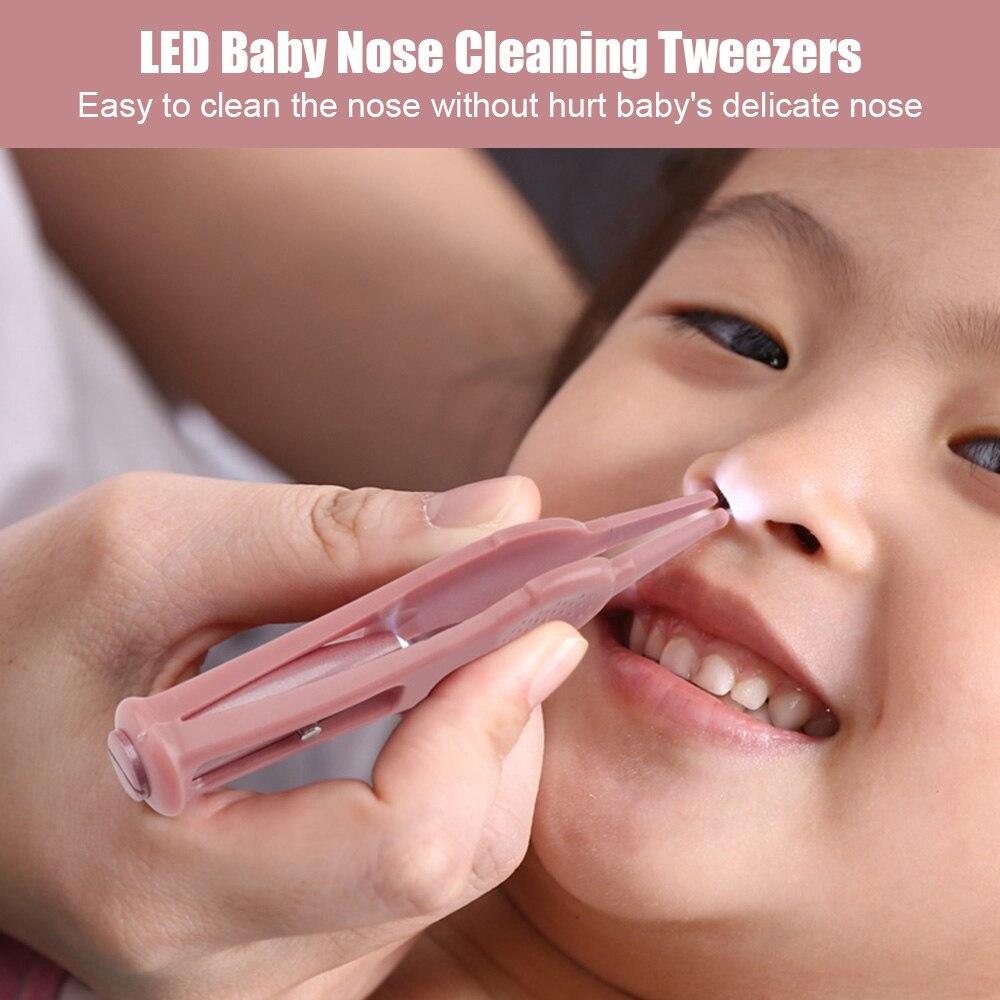 HD LED Baby Reinigungspinzette Ohrreiniger Nasenpick Nabel Reiniger Sanfte Pfl0J