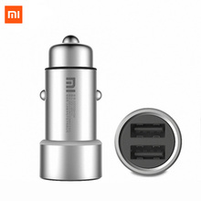 Buy Xiaomi Mi car charger 5V/3.6A dual USB Metal All-metal Outer casing Dual USB Port Support fast charging technology for $9.59 in AliExpress store