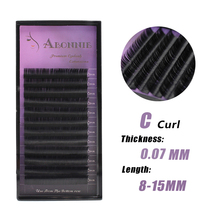 007 1 pc/lot C Curl All Thickness Faux Mink False Eyelash Extension New Professional Eyelash Extension