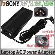 16V 3.75A AC Adapter Charger Supply For sony Laptop PCGA-AC16V PCGA-AC16V1 PCGA-AC16V3 PCGA-AC16V4 With High Quality Free Ship