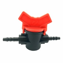 "2 Pcs Close 4/7 Hose Valve G1 / 4 ""micro-irrigation Pipe Valve Slotted Barbed Plastic Valves For Garden Irrigation(China)"
