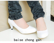 2014 Spring Fashion Women's Work Boat Shoes Single Sshoes Low-Heeled Shoes Red,White,Black Size 35-40 Em7322
