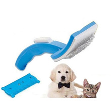 Pet Comb Brush Clean Shedding Hair Tools Polisher Fine Trimmer Dog Cat Cleaning Grooming Fur Comfortable Cleaner