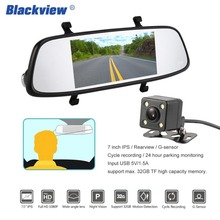 Buy BLACKVIEW HS720C 7 Inch IPS Screen Front View 1080P Rear view Camera CMOS Sensor G-sensor Cycle Recording Car Driving Recorder for $82.87 in AliExpress store