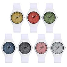2017 GAIETY Fashion Simple White Casual Quartz Watch Women Silicone Watchband Business Wristwatch for Female Dress Clock 7Colors(China)