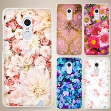 Beautiful floral Hard White Cell Phone Case Cover for Xiaomi Mi Redmi Note 4 Pro 4A 4C 4X 5X 5 6