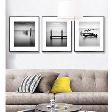 White Black Modern Nordic Magnificent Landscape Aurora Scenery Photography Artwork Canvas Prints Best Murals For Home Sofa Decor
