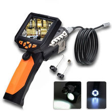 8.2MM Endoscope Inspection Camera with 3.5 Inch LCD Monitor Tube Pipe Inspection Camera Video Cam 360 Degree Rotate Flip