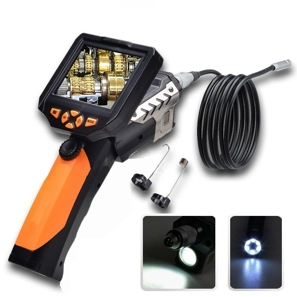 8.2MM Endoscope Inspection Camera with 3.5 Inch LCD Monitor Tube Pipe Inspection Camera Video Cam 360 Degree Rotate Flip<br><br>Aliexpress
