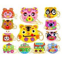 EVA DIY Bags Cute Flower Style Bag Handmade Crafts Cartoon Sewing Backpacks Kids Children Creative Toys for Photo Frame(China)