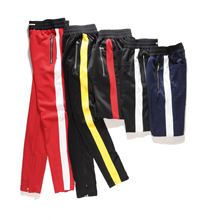 ONCEGALA Zipper Pants Hip Hop Cotton Jogger Urban Clothing Casual Men/Women Bottoms Rap Classic10 Color Pants(China)