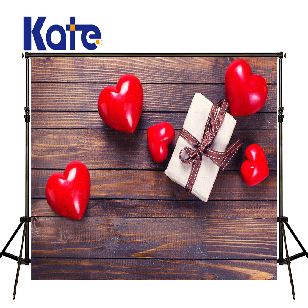 KATE Photo Background Wedding Backdrops Solid Brown Old Wood Background Love Backdrops Newborn Photography Background for Studio<br>
