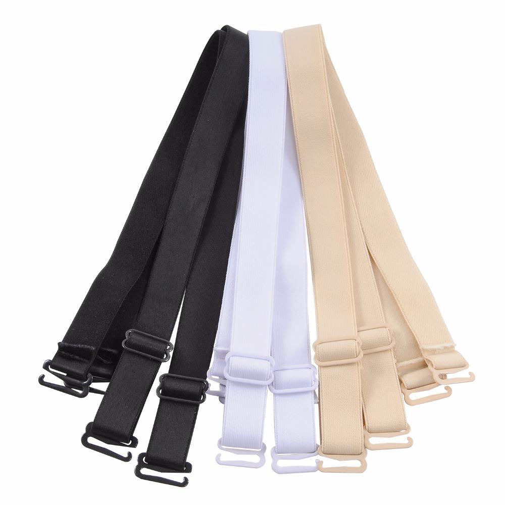 Closecret Bra Accessories Women's Convertible Shoulder Bra Straps 12mm 15mm Width(Pack of 3 Pairs:Beige/Black/White) 9