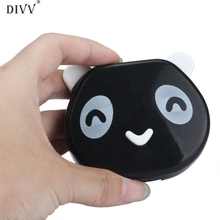 DIVV Happy Home Eyes Care Kit Cartoon Panda Candy Color Contact Lens Box Case For Eyes Care 1 Kit