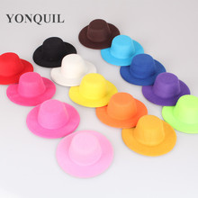 "Free shipping 4""(10cm) 14 color gril mini top fascinator hats cute children party hats Woman Hair Accessory 24 pieces/lot MH006(China)"